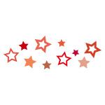 赤色の星が散らばるイラレ・パターンブラシ