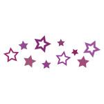 紫色の星が散らばるイラレ・パターンブラシ