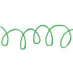ラフにグルグルと書かれた緑ペンの落書きイラスト イラレ・パターンブラシ