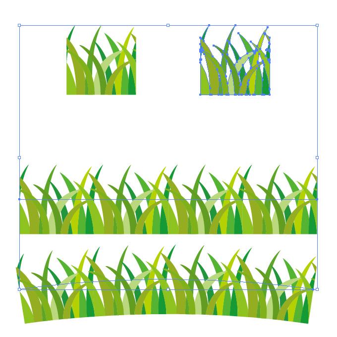 草が生い茂るようなイラレ・パターンブラシ
