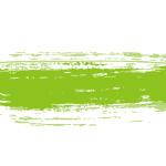 緑色の絵の具で描いた毛筆のイラレ・アートブラシ