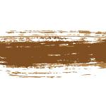 茶色絵の具のかすれた毛筆イラレ・アートブラシ