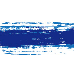 紺色絵の具のかすれた毛筆イラレ・アートブラシ