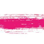 ピンク色絵の具のかすれた毛筆イラレ・アートブラシ