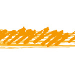 オレンジ色のぐじゃっとしたイラレ・アートブラシ
