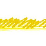 黄色のぐじゃっとしたイラレ・アートブラシ
