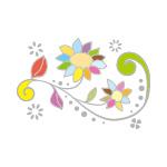 カラフルな植物のイラスト、イラレ・パターンブラシ